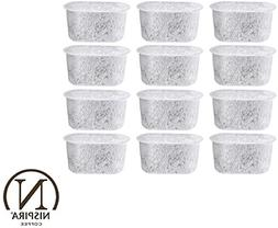 12 NISPIRA Replacement Activated Charcoal Water Filters for