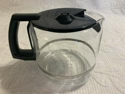 Krups 12 Cup Glass Coffee Carafe w/ Lid Replacement ProAroma
