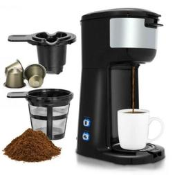 2 in 1 Portable Coffee Maker Machine for Ground and Capsule