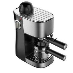 4-Cup 3.5 Bar Black Espresso Coffee Maker Machine With Remov