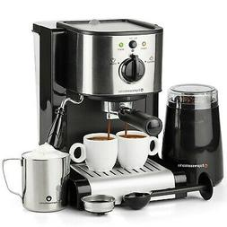 7 Pc All-In-One Espresso & Cappuccino Maker Machine Barista