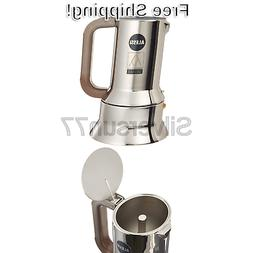Alessi 9090/M Espresso Coffee Maker Silver 17-3/4 Oz