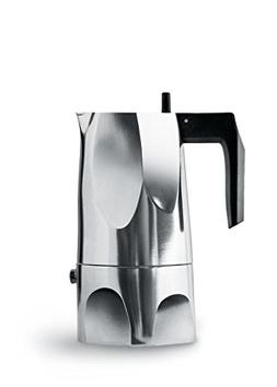 "Alessi MT18/3""Ossidiana"" Stove Top Espresso 3 Cup Coffee Mak"