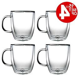 Bodum Bistro Double-Walled Transparent 15 Ounce Jumbo Coffee