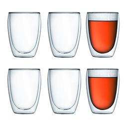 Bodum Pavina Double-Wall Insulated 12-Ounce Glasses, Set of