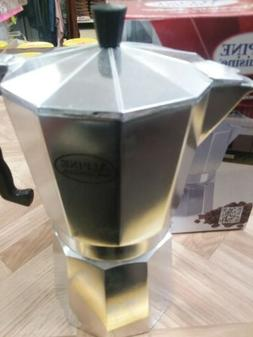 Alpine Coffee Maker Aluminum 9 cup Expresso and Coffee Maker