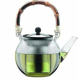 Assam Tea Press with Bamboo Handle and Stainless Steel Filte