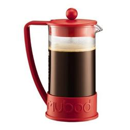 Bodum New Brazil 8-Cup French Press Coffee Maker, Red