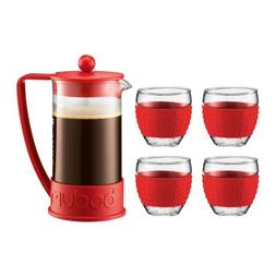 Bodum Brazil French Press 34-Ounce Coffee Maker with Set of
