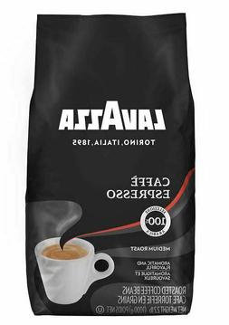 Lavazza Caffe Espresso Premium Arabic Whole Bean Coffee, 35.