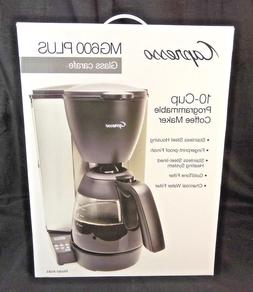 Capresso MG600 Plus 10-Cup Programmable Coffee Maker with Gl