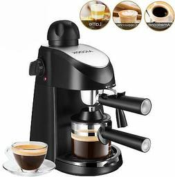 Coffee Machine, 3.5 Bar 4 Cup Espresso and Cappuccino Maker