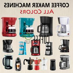 Coffee Maker Machines American Drip Coffee Brewer lot Espres