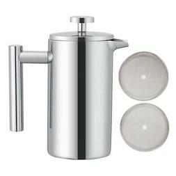 Coffee Pot French Press Stainless Steel Espresso Machine Hig