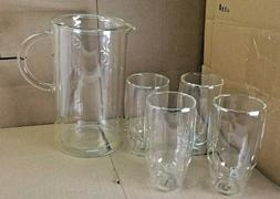 Colin Cowie Selects Bodum Double Wall Pitcher & Four Glasses