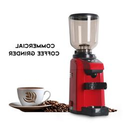 Commercial Espresso Coffee Grinder Burr Mill Machine Red 500