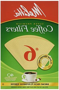 Melitta Cone Coffee Filters Number 6 40 Count