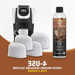 Descaler for 4 Uses on Keurig & 4 Water Filter Coffee Descal