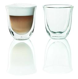 DeLonghi Double Walled Thermo Cappuccino Glasses, Set of 2 P