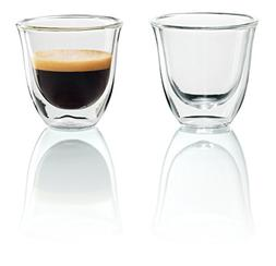 DeLonghi Double Walled Thermo Espresso Glasses, Set of 2 New