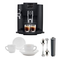 Jura E8 Espresso Coffee Machine with Espresso Cup and Saucer