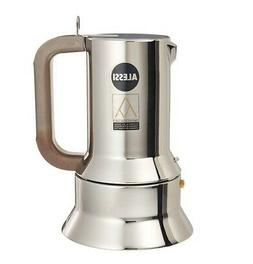 Espresso Coffee Maker Alessi 9090/1 in 18/10 Stainless Steel