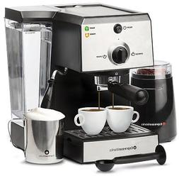 Espresso Machine & Cappuccino Maker 7 Pc-All-In-One Barista