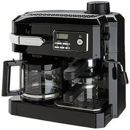 Espresso Machine Cappuccino Coffee Maker Combo Black Kitchen