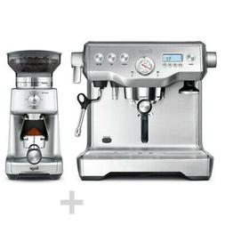 Sage - Espresso Machine + Coffee Mill - Brushed Stainless St