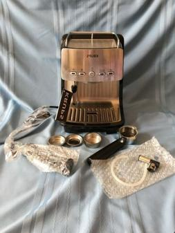 Excellent NIB KRUPS  XP4050 Espresso Machine in Stainless St