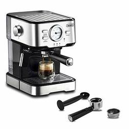 Espresso Machines 15 Bar with Adjustable Milk Frother Wand E