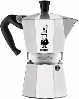 Bialetti Kitty 3 Cup ,6 cup Stainless Steel Espresso Maker _