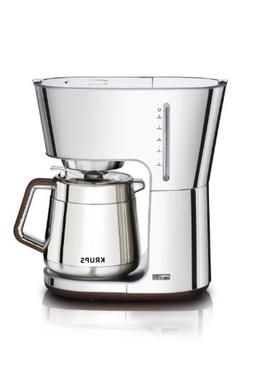 Krups KT600 Silver Art Collection 10-cup Thermal Carafe Coff