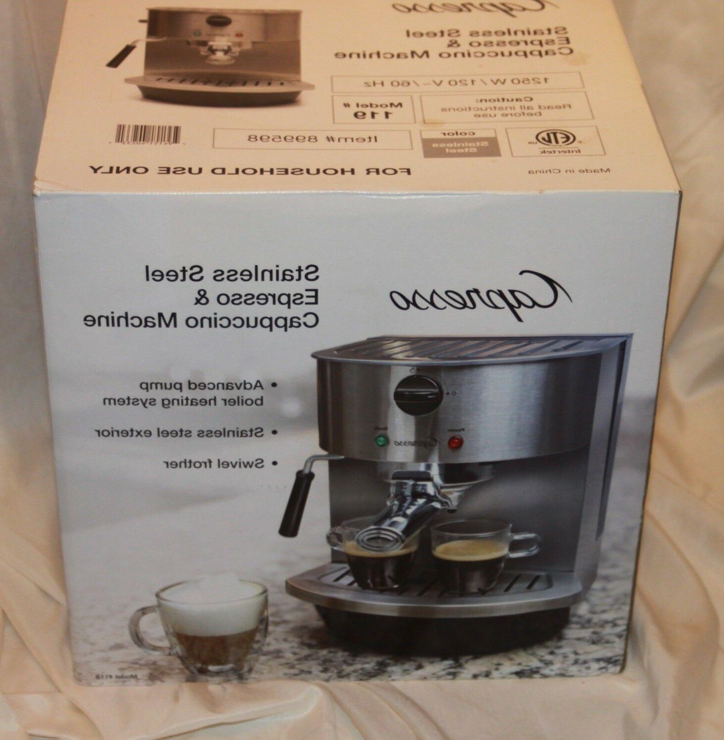 119 stainless steel pump espresso and cappuccino