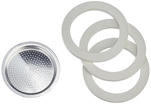 Packaging of gaskets and 1 for aluminum coffeepots cups.