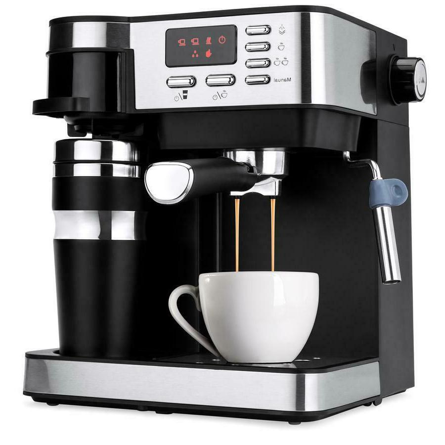 3 in 1 Coffee Machine Maker Programmable 115-Bar Accessories