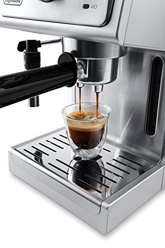 De'Longhi Pump and Cappuccino Machine, Stainless
