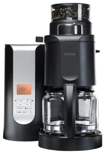 Krups Personal Café Grind /& Brew Drip Coffee Maker Stainless Steel Burr Grinder
