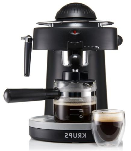 KRUPS Machine with for Cappuccino, Black