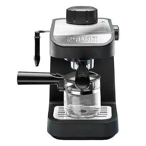 KRUPS XP1020 Steam Espresso Machine with Glass Carafe, 4-Cup
