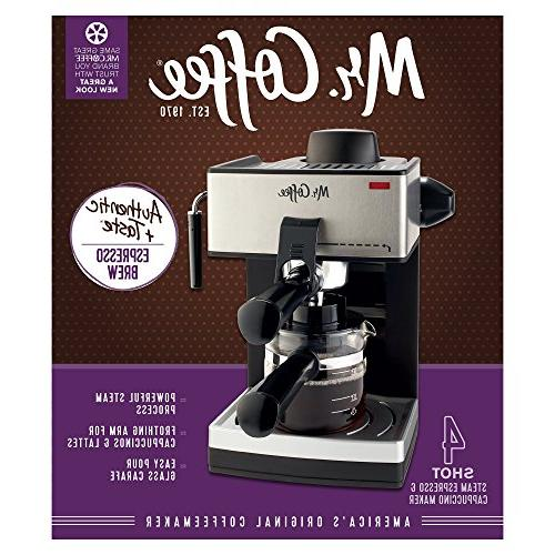 Mr. Coffee 4-Cup Steam Espresso System with Frother
