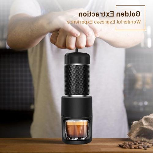 Portable Golden Extraction Machine Compact Travel, Trip Outdoor Activity, in One Manual Coffee Maker Compatible Ground & Capsule