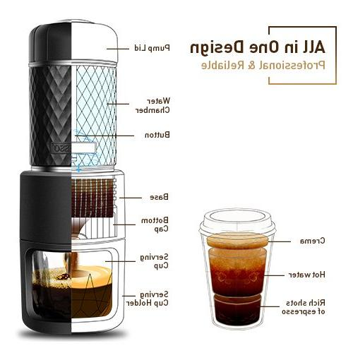 Portable Coffee Golden Machine Compact Size Travel, Trip & Outdoor Activity, One Manual Compatible Ground &