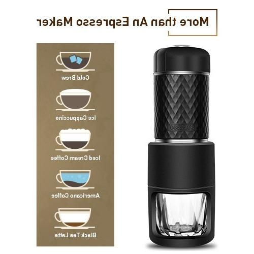 Portable Golden Extraction Espresso Machine Compact Travel, Business Trip Outdoor Activity, in One Coffee Compatible with &