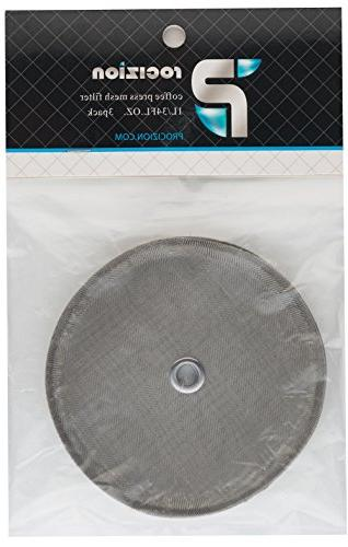 Universal Replacement French - oz / 1000 - Fits Most Presses - Includes Center Filters for Coffee, Tea