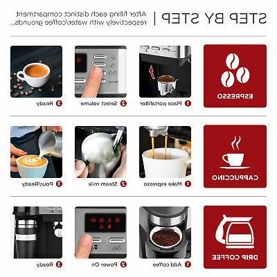 BCP 3-in-1 Coffee, w/ Frother,