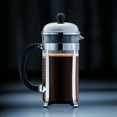Bodum Durable Heat-Resistant Glass Metal styling Coffee Press