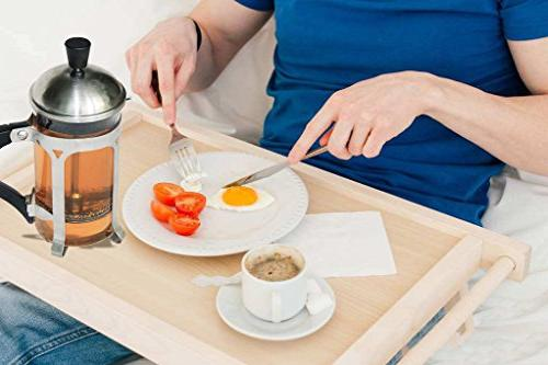 CHEFHUB French Maker-10oz Cup and Maker with Triple Filters, Steel Heat Glass, Press & Scoop