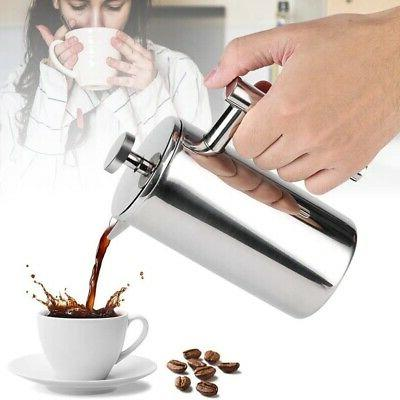 Coffee Pot Stainless Espresso High Doubl