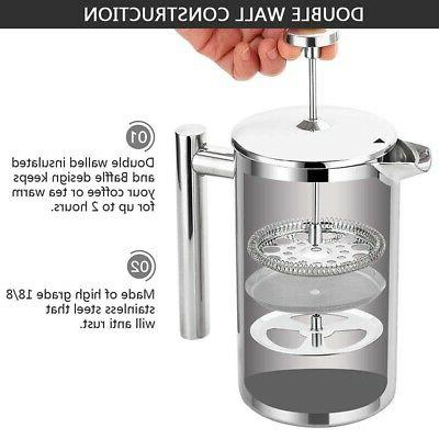 Coffee Pot French Stainless High Doubl
